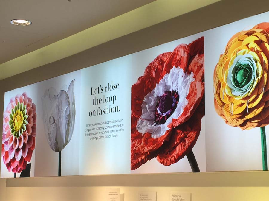 H & M Campaign – Flowers Made From Clothes