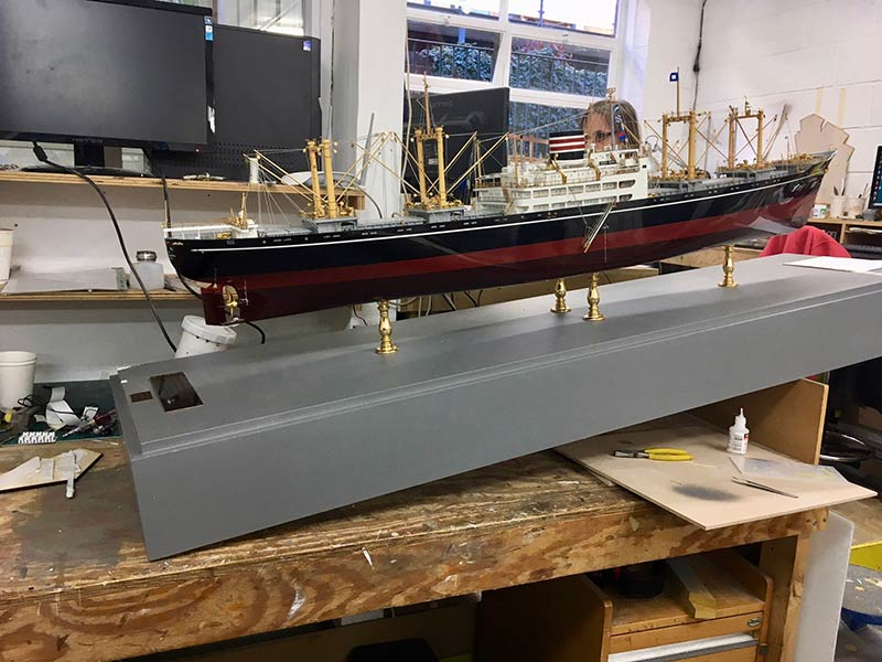 ship model makers, NYK damaged model