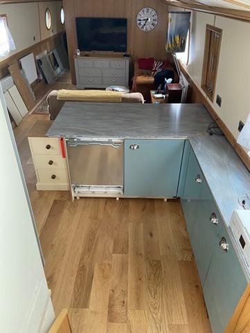 Boat kitchen model