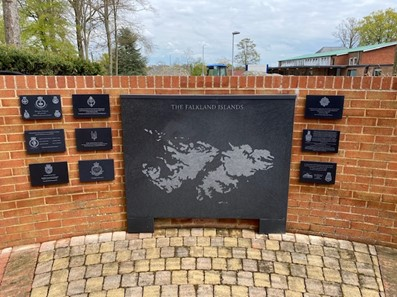 Corian made memorial plaque